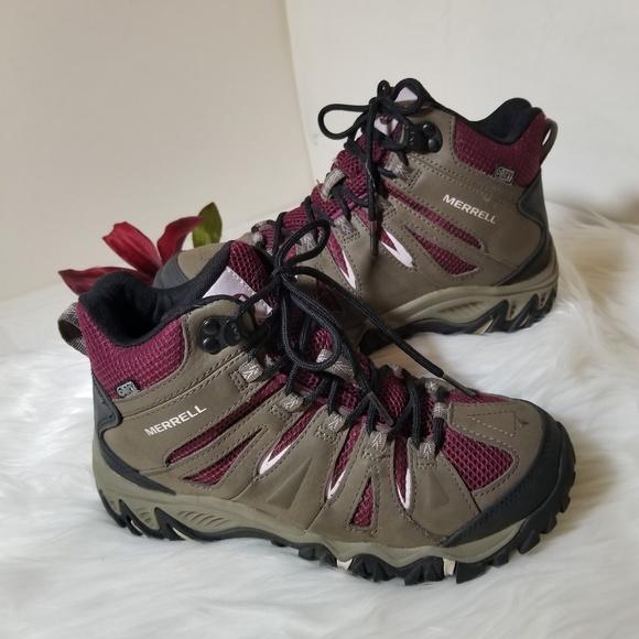 5e853870bfa MERRELL Womens 6.5M Salida Mid Waterproof Boots